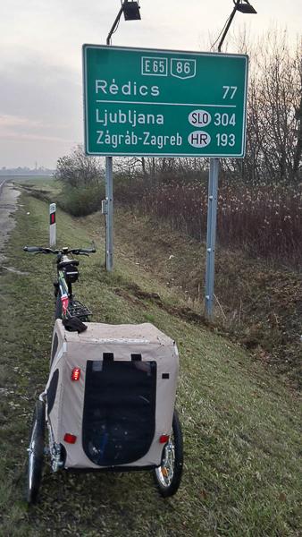 bicyklom do slovinska za mestom szombathely