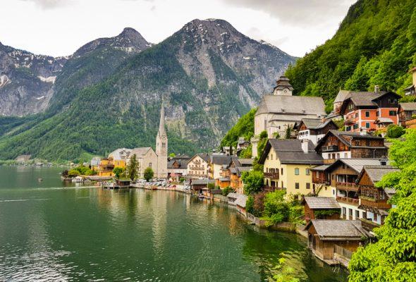 Hallstatt a alpské jazerá