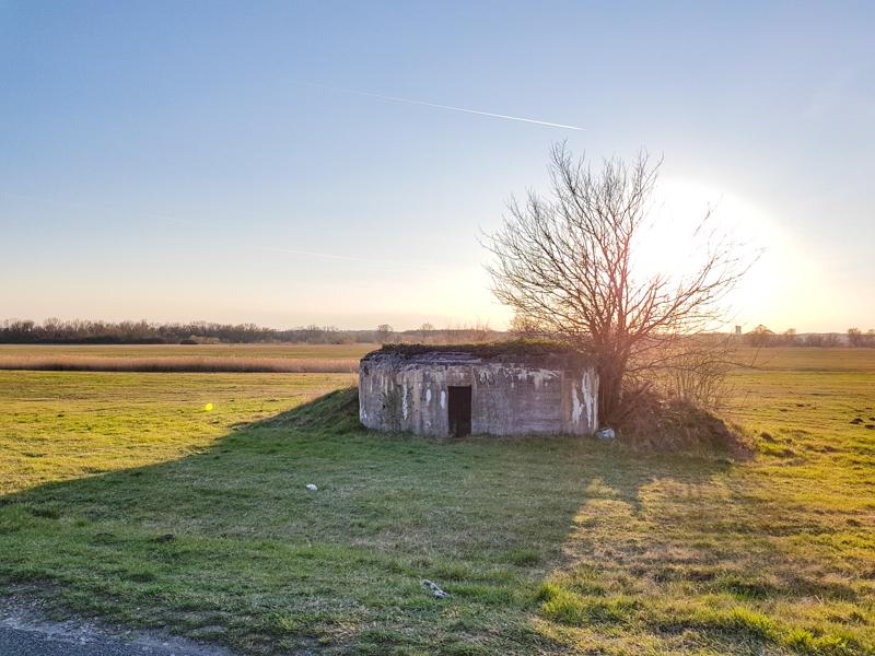 Bunker pri rieke Morava pri krcme U Stareho bicykla