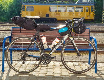 bikepacking moj cestny bicykel Scott