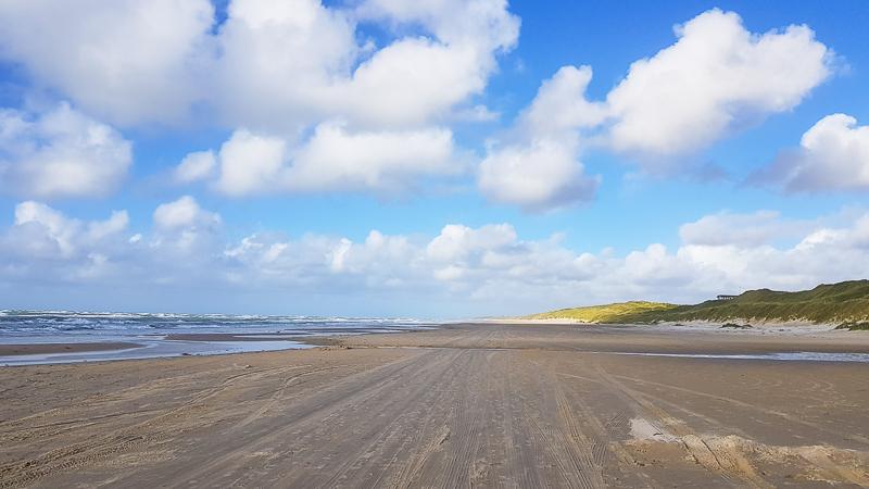 Plaz pri Severnom mori v Dansku