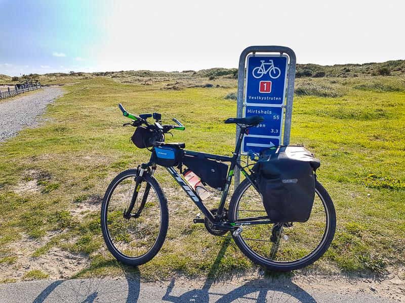 Koniec North Sea Cycle Route v Skagene