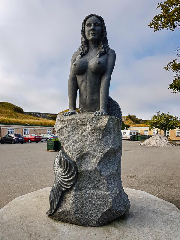 Morska panna v dedinke Dragor pri Kodani