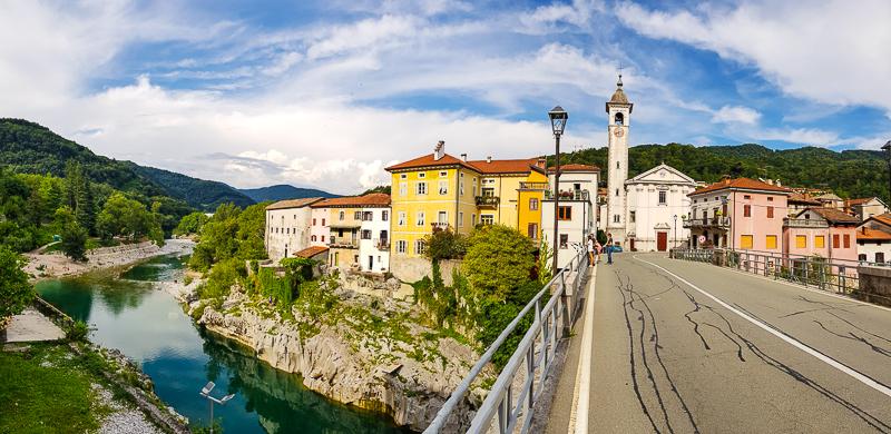 udolie rieky Soca v Slovinsku