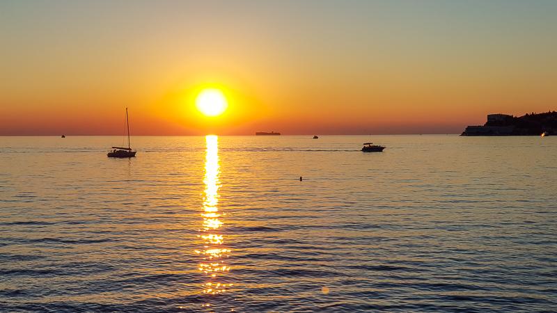 Zapad slnka v Portorozi