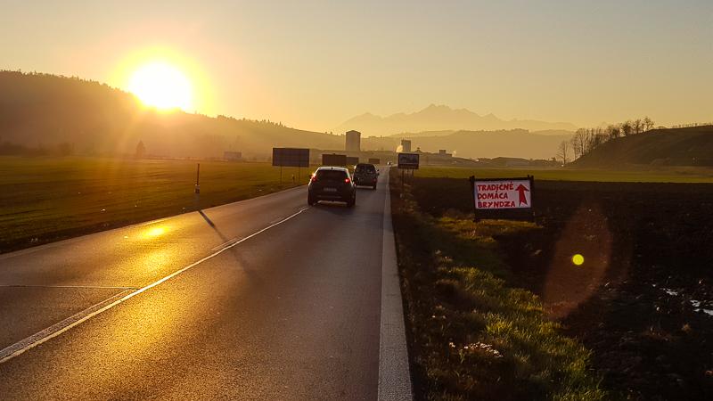 Vysoke Tatry pri zapade slnka