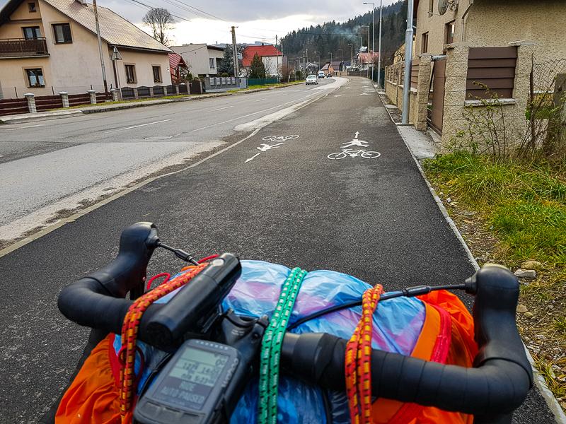 cyklochodnik v Turzovke na Kysuciach