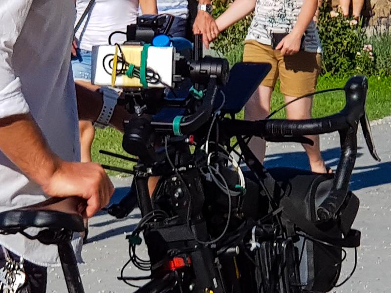 Bicykel s technickymi gadgetmi