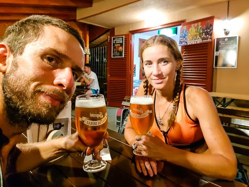 Pivo na cyklovylete okolo Balatonu