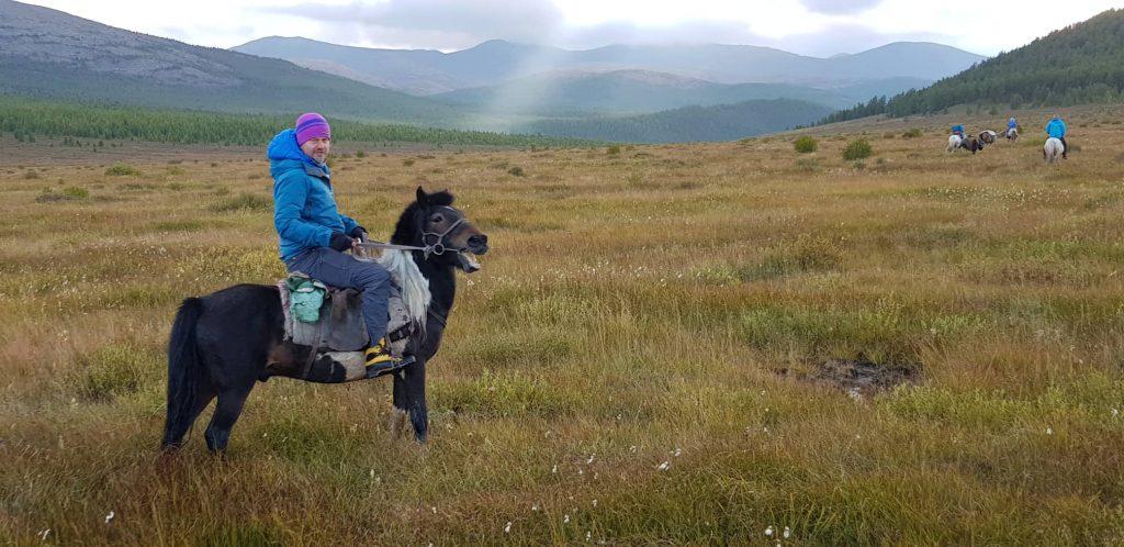Jozef Terem, na konoch v Mongolsku