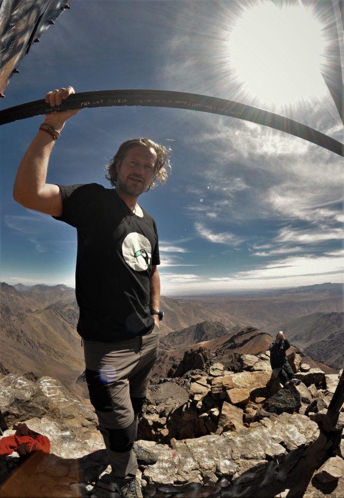 Jozef Terem, na vrchole Jabal Toubkal