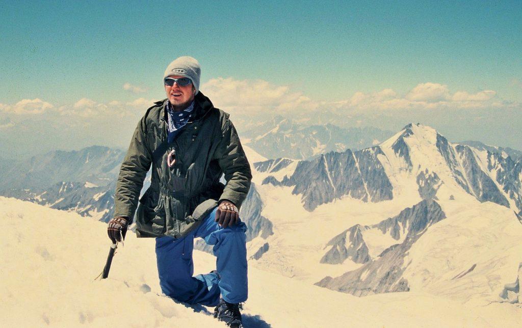 Jozef Terem, na vrchole hory Kazbek - 5033 metrov, Gruzinsko