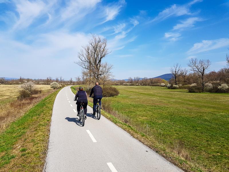 Vazska cyklomagistrala pri Novom Meste nad Vahom