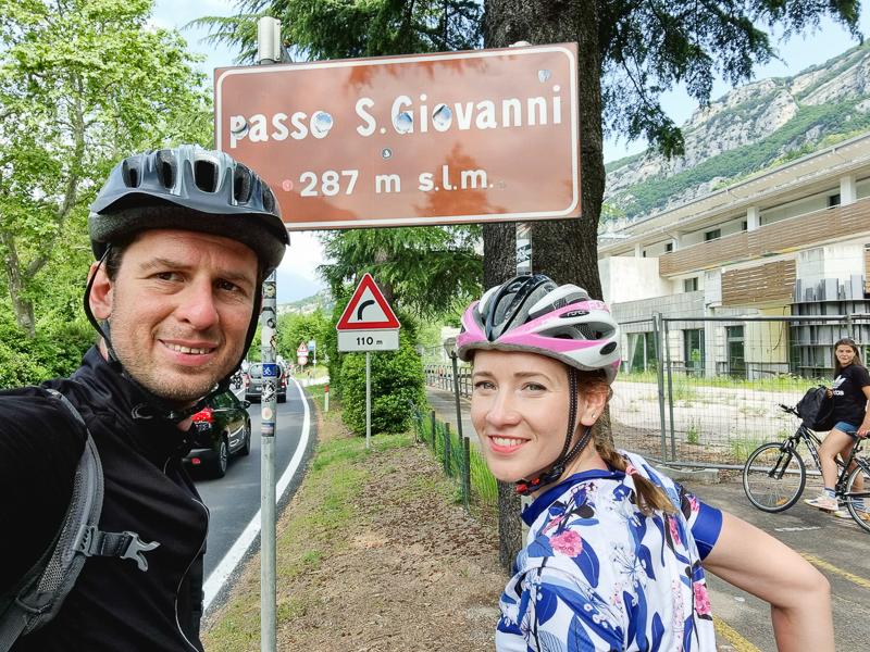 Cyklochodnik Lago di Garda Passo San Giovanni
