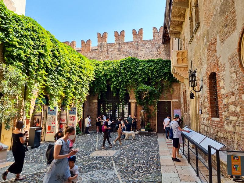 mesto Verona Juliin balkon