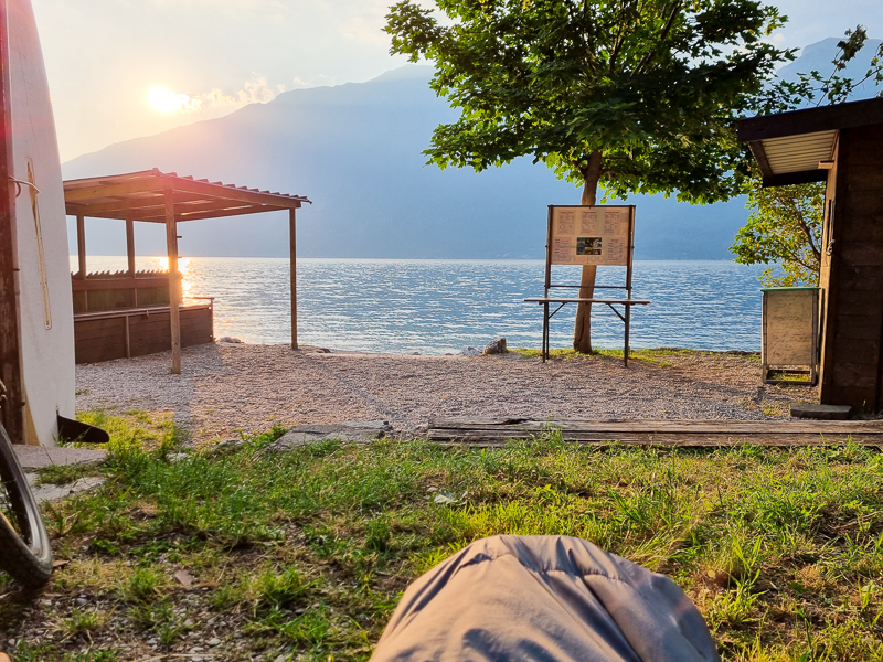 Kempovanie pri Lago di Garda