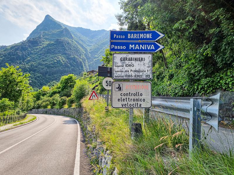 Cesta pri Lago d'Idro
