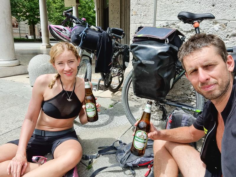 Cyklocestovatelia v Bergame