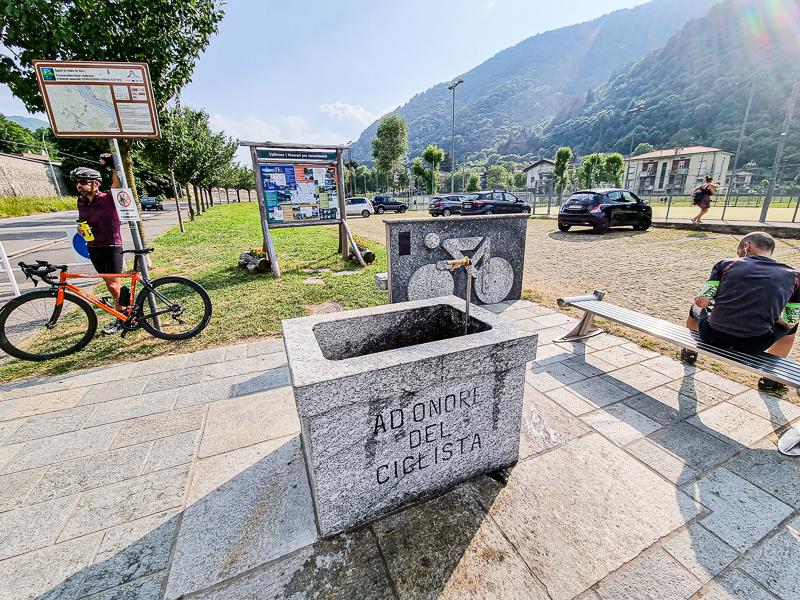 Valbrona pri Lago di Como cyklisticka studnicka